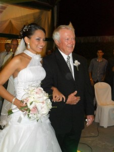 Bill gives away the bride
